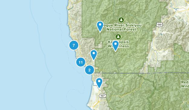 Brookings, Oregon Views Map
