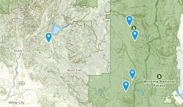 Butte Falls, Oregon Views Map