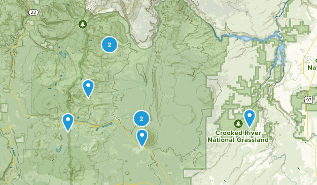 Camp Sherman, Oregon Dogs On Leash Map