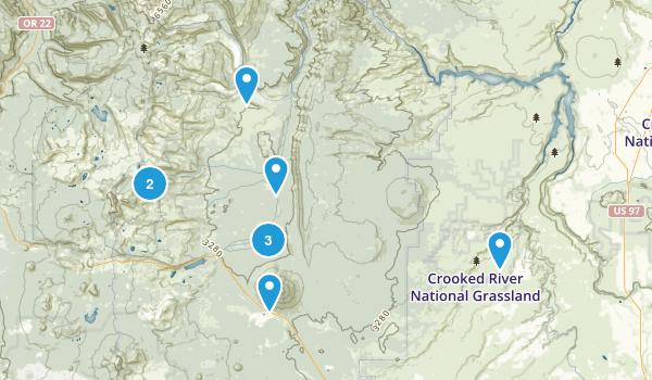 Camp Sherman, Oregon Walking Map