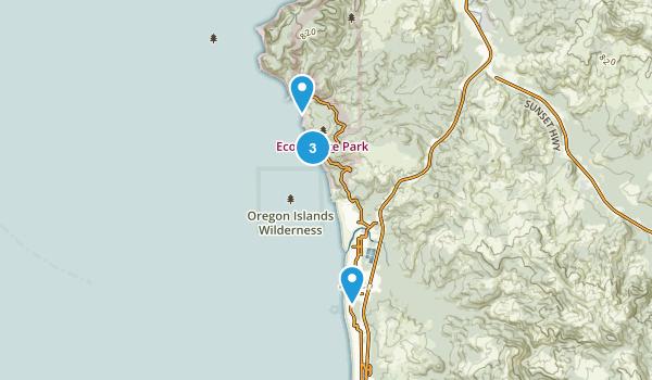 Cannon Beach, Oregon Hiking Map