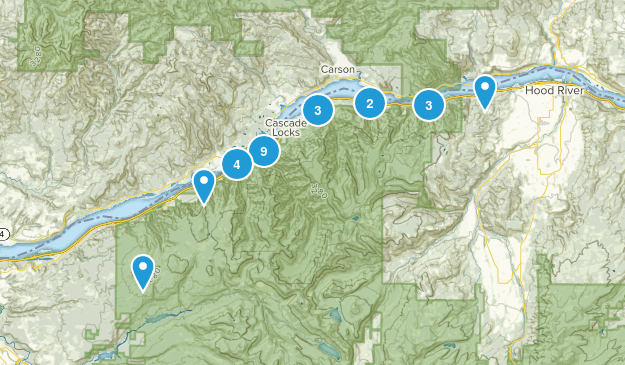 Cascade Locks, Oregon Dogs On Leash Map