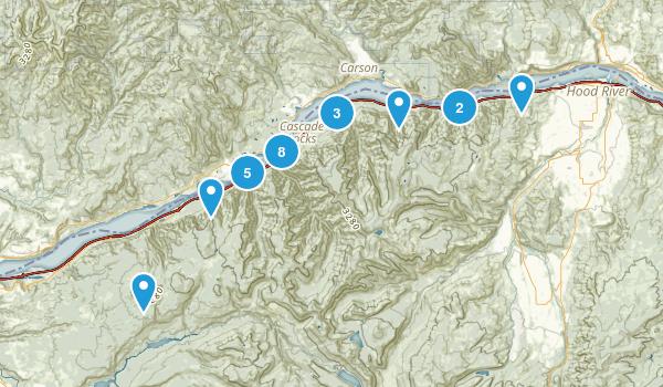 Cascade Locks, Oregon Forest Map