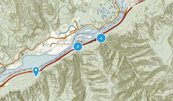 Cascade Locks, Oregon Kid Friendly Map
