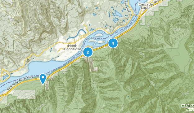 Cascade Locks, Oregon Kid Friendly Map