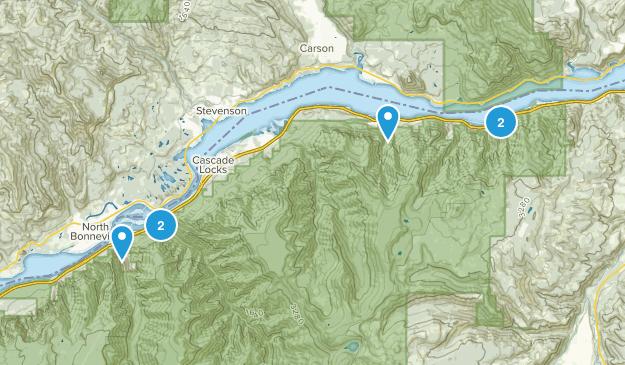 Cascade Locks, Oregon Lake Map
