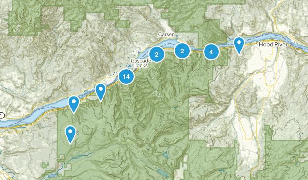 Cascade Locks, Oregon Nature Trips Map