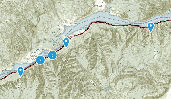 Cascade Locks, Oregon Trail Running Map
