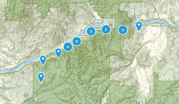 Cascade Locks, Oregon Walking Map