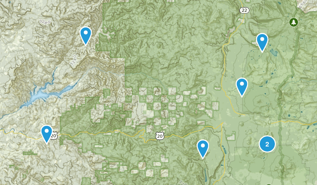 Cascadia, Oregon Camping Map