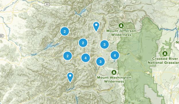 Cascadia, Oregon Nature Trips Map