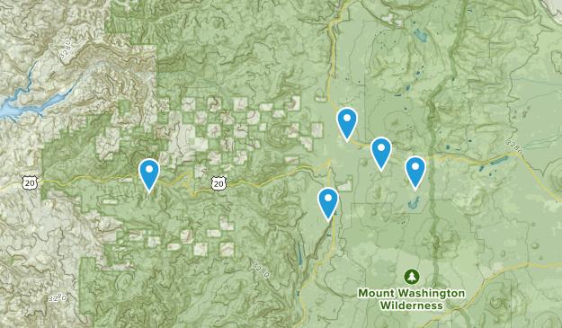 Cascadia, Oregon Snowshoeing Map