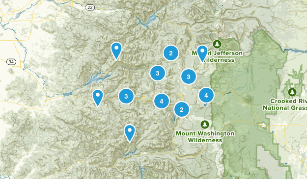 Cascadia, Oregon Walking Map