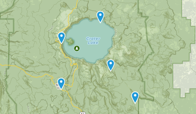 Chiloquin, Oregon Forest Map