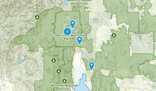 Chiloquin, Oregon Hiking Map