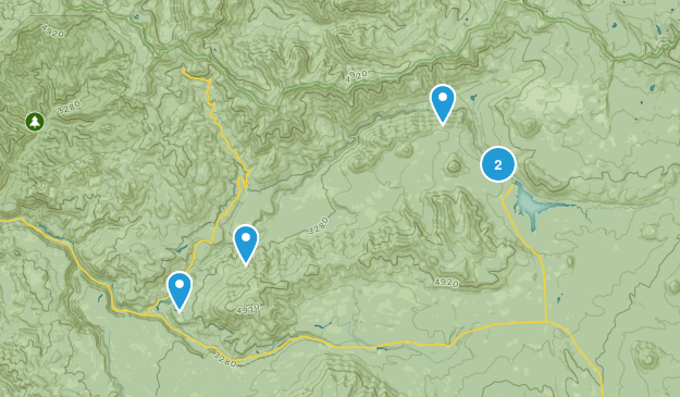 Clearwater, Oregon Hiking Map