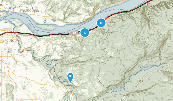 Corbett, Oregon Walking Map