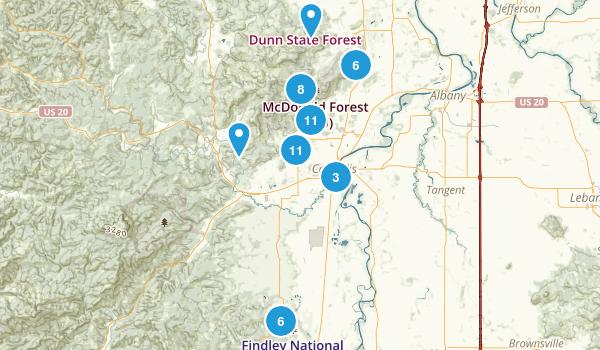 Corvallis, Oregon Birding Map