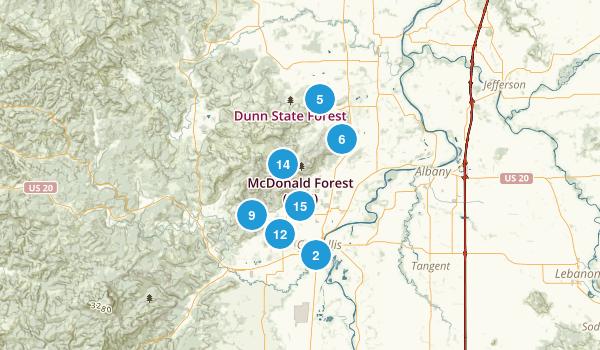 Corvallis, Oregon Mountain Biking Map
