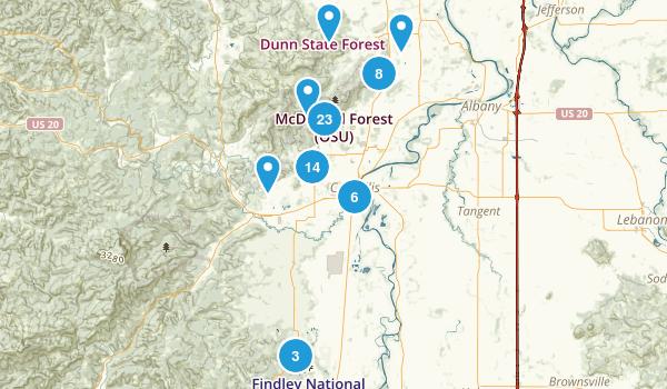 corvallis oregon trail running map