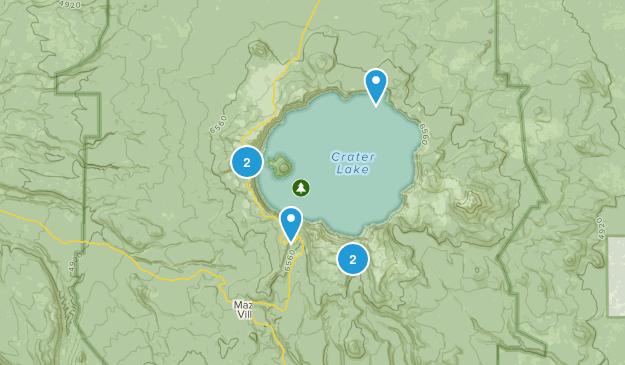 Crater Lake, Oregon Birding Map