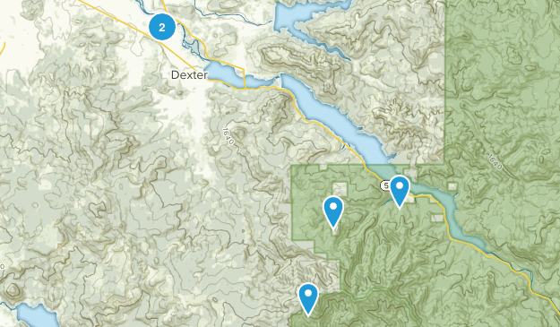 Dexter, Oregon Birding Map