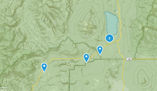 Diamond Lake, Oregon Hiking Map