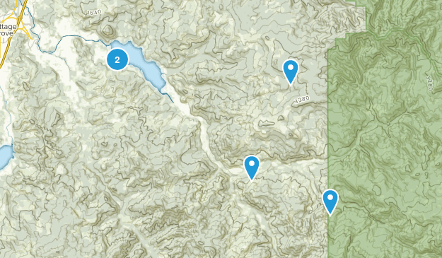 Dorena, Oregon Walking Map