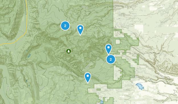 Dufur, Oregon Hiking Map