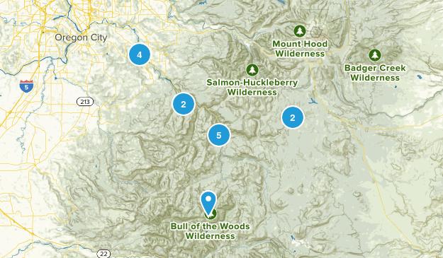 Estacada, Oregon River Map