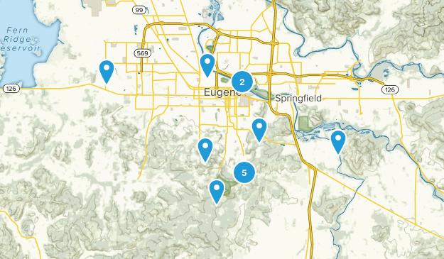 Eugene, Oregon Wildlife Map