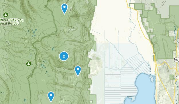 Fort Klamath, Oregon Hiking Map