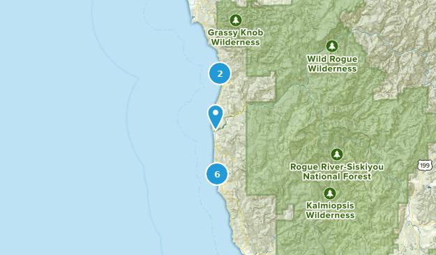 Gold Beach, Oregon Bird Watching Map