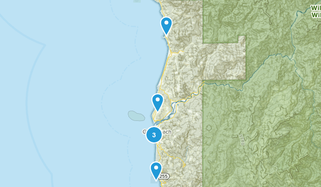 Gold Beach, Oregon Hiking Map