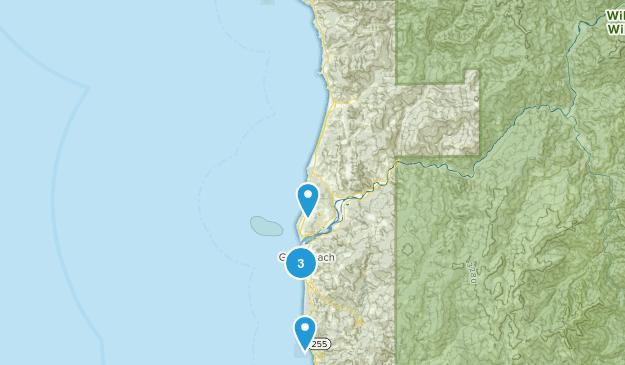 Gold Beach, Oregon Nature Trips Map