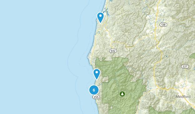 Gold Beach, Oregon Views Map