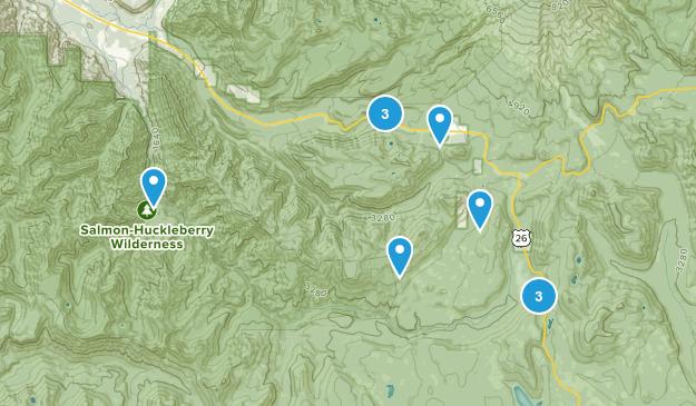 Government Camp, Oregon Lake Map