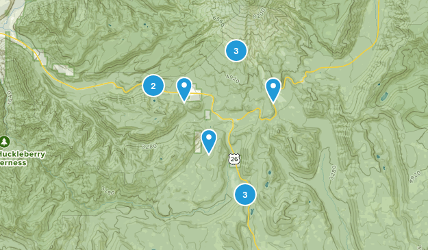 Government Camp, Oregon Snowshoeing Map