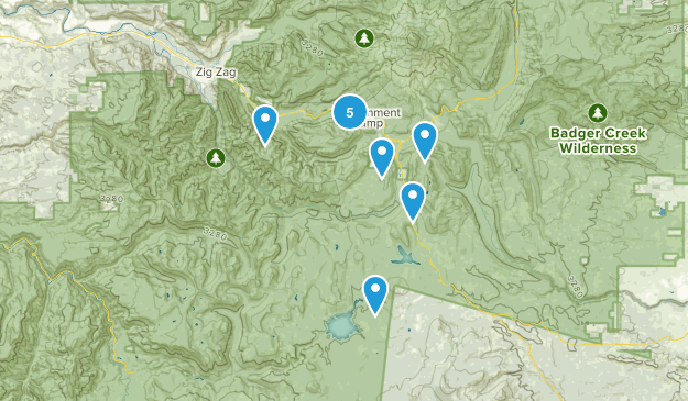 Government Camp, Oregon Trail Running Map