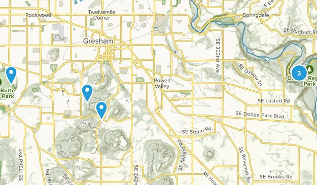 Gresham, Oregon Hiking Map