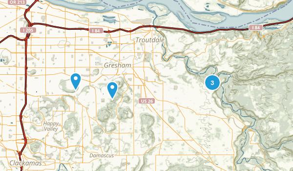 Gresham, Oregon Walking Map