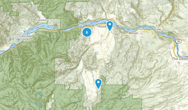 Hood River, Oregon Mountain Biking Map