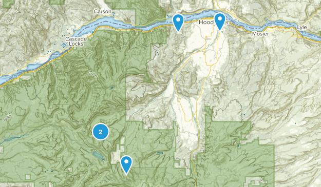 Hood River, Oregon Trail Running Map