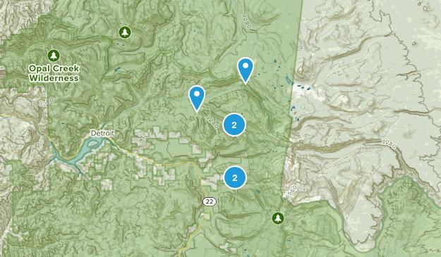 Idanha, Oregon Birding Map