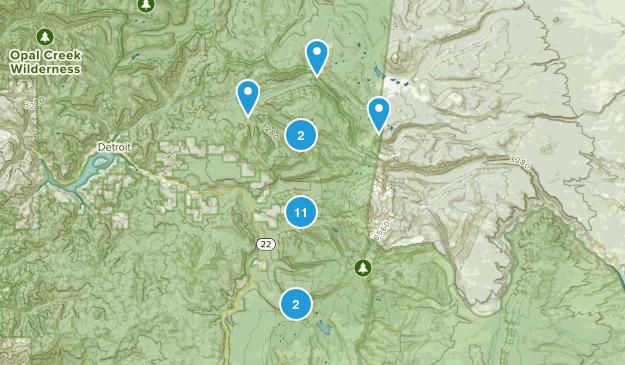 Idanha, Oregon Hiking Map