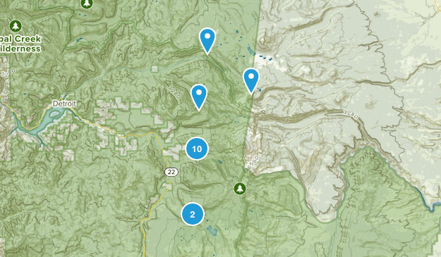 Idanha, Oregon Lake Map