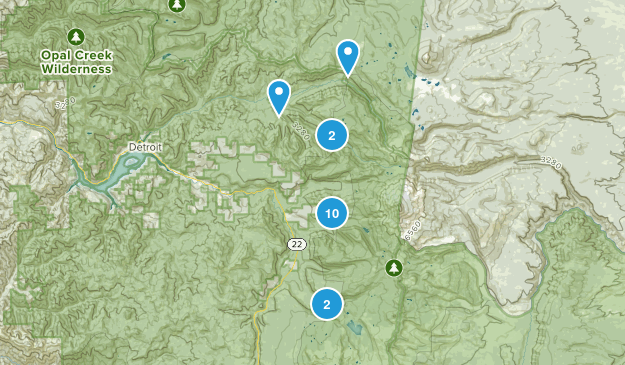Idanha, Oregon Nature Trips Map