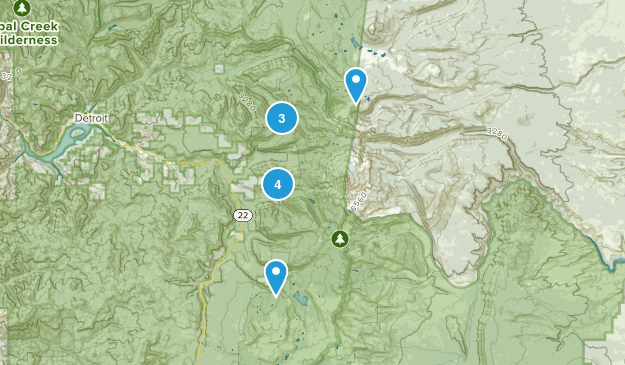 Idanha, Oregon Wild Flowers Map