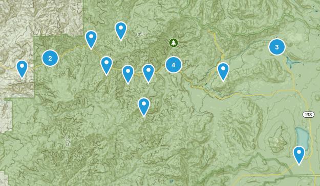 Idleyld Park, Oregon Forest Map