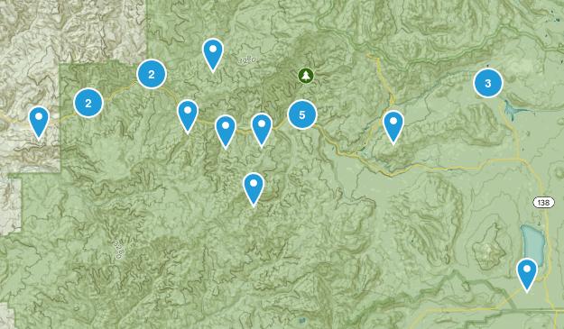 Idleyld Park, Oregon Hiking Map